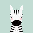 zebra head card