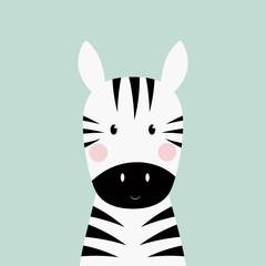 Panel Szklany Zebry zebra head card