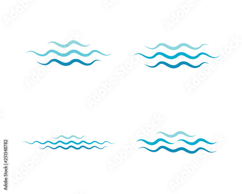 Fototapeta Water wave icon vector obraz na płótnie