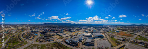 Fotografia, Obraz  Aerial panoramic view of downtown Huntsville Al  flanked by Hwy 231 and Hwy 565