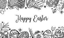Easter Eggs Rectangular Frame ...
