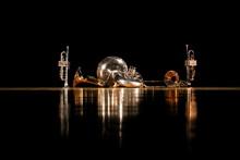 金管五重奏と光が反射...