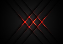 Abstract Red Light Cross Patte...