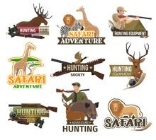Safari Hunting Club, African Animals Hunt Icons