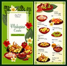 Malaysian Cuisine Menu Traditi...