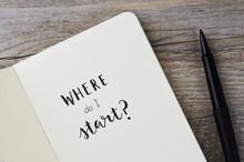 WHERE DO I START? Hand Letteri...