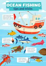 Sea Fishery Boat And Fisherman Fish Catch