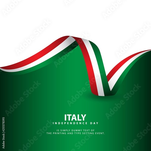 Pinturas sobre lienzo  Italy Independence Day Vector Template Design Illustration
