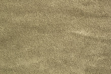 Dark Green Khaki Matte Background Of Suede Fabric, Closeup Background