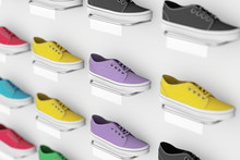 Many Multicolour Sneakers Foot...