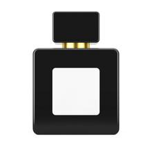 Black Cube Parfume Bottle Mock...
