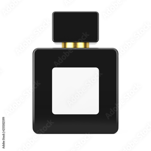 Black Cube Parfume Bottle Mockup with Blank Label for Yourth Design Canvas Print
