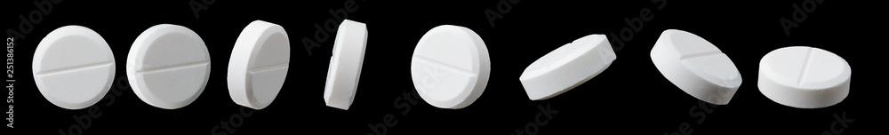Fototapeta Different angles of white pill