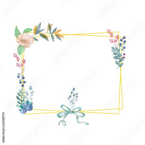 c911f5b976c2 Gold frame illustration. square and bow clip art branch for celebration