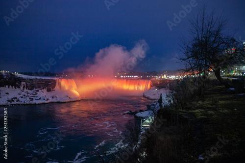 Niagara Falls Canada February 23 2019 Beautiful Night