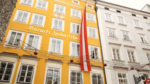 Mozart's Birthplace In Salzburg During Winter, Birthplace Of Mozart, Genius Of Classical Music
