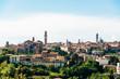 Stadtansicht von Siena mit skyline