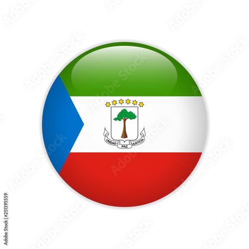 Fotografía  Equatorial Guinea flag on button