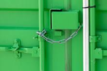 Green Storage Container Locked...