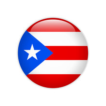 Puerto Rico Flag On Button