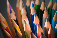 Tips Of Colored Pencils Vertical