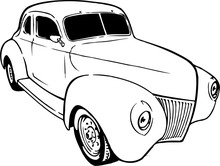 1939 Chevy Coupe Vector Illust...