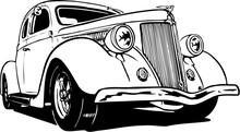 1936 Coupe Vector Illustration