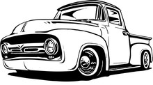 1956 Ford Pickup Vector Illustration