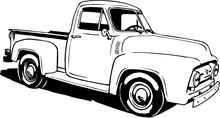 1953 Ford Pickup Vector Illust...