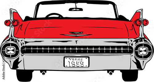 1959 Cadillac Vector Illustration Wallpaper Mural