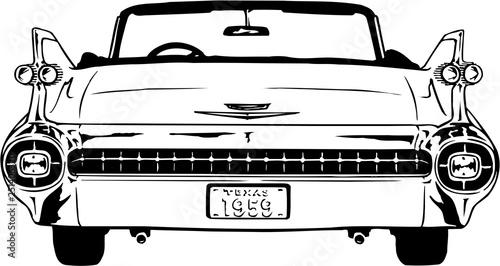Fotografie, Obraz  1959 Cadillac Vector Illustration