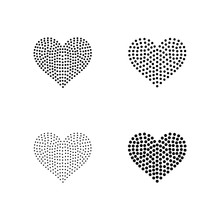 Blackline For Rhinestones Or Studs In A Heart Shape 4 Inches Wide.