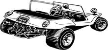 Dune Buggy Vector Illustration