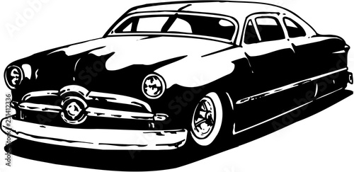 Ford Two Door Vector Illustration Canvas Print