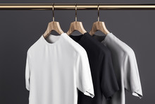 Blank T-shirts On Hanger