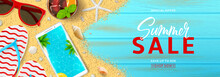 Summer Sale Promo Web Banner. ...