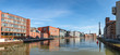 canvas print picture - Kreativkai, Kanal Hafen von Münster in Westfalen