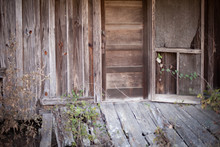 Abandoned Old Wooden House In Disrepair - Poverty