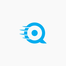 Letter Q Logo With Wing Vector Illustration Design