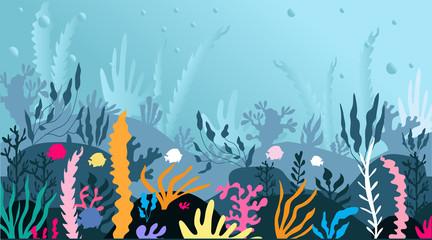 Fototapeta na wymiar Seaweed landscape2