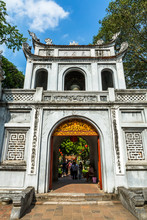 Gate To Temple Of Literature In Hanoi, Vietnam