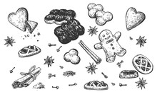 Collection Of Hand Drawn Sweet...