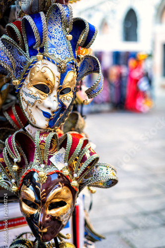 Fototapety, obrazy: Traditional venetian mask in store on street, Venice Italy.