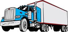Tractor Trailer Vector Illustration