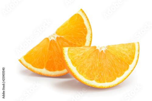 orange fruit slice isolated on white background Fototapeta