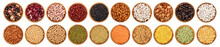 Mix Legumes In Wooden Bowl Iso...
