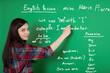 beautiful english student study english lesson