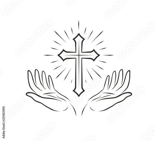 Slika na platnu Christian Logo