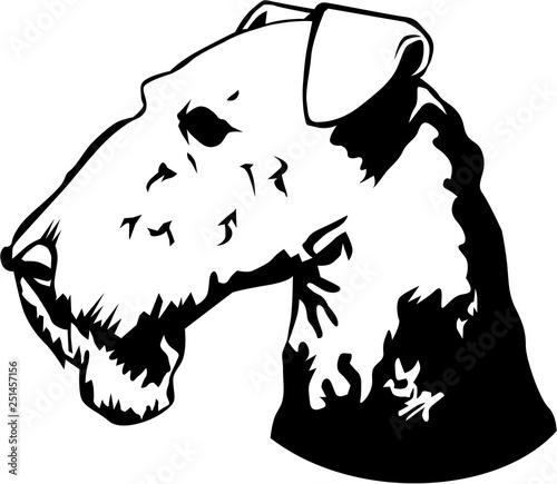 Photo Airedale Terrier Vector Illustration