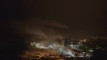 Smoke Coming Out From The Papermill Factory